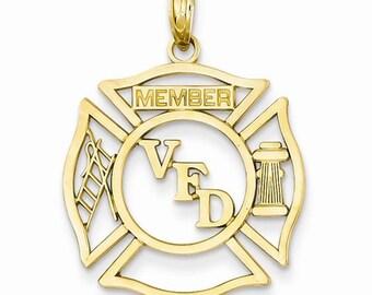VFD Member Shield Pendant (K2849)