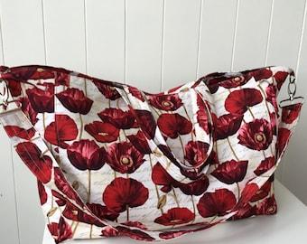 Handbag, Large Tote, Overnight Bag, Sports Bag, Red Poppy, Diaper Bag, Made in Australia, Bags and Purses, Crossbody Bags, Trending Item