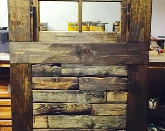 Custom window multi-stained barn door