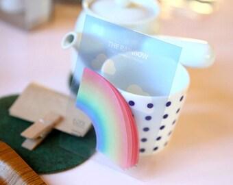 THE RAINBOE Memo-it - Semitransparent Memo pad Note Paper Memos