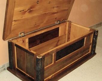 BARNWOOD BLANKET CHEST From Reclaimed Wood