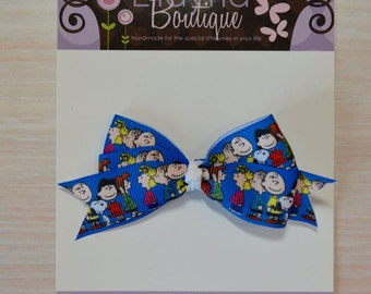 Boutique Style Hair Bow - Peanuts, Charlie Brown