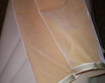 Victorian Antique Silk Velvet Yardage Milinery Pillow Dolls soft honey color