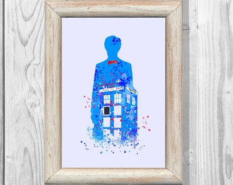 Doctor Who Print Dr Who Quote 3 Tardis Print Watercolor