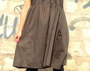 Olive Green Maxi Dress/Oversize Tunic/Plus Size Maxi Tunic/Midi Oversized Dress/Casual Green Tunic