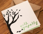 With Sympathy Card - Suitable for loss of a family member, friend or pet - blank inside. Free UK shipping!