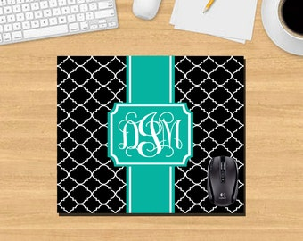 Custom Mouse Pad. Monogram Mouse Pad. Quartrefoil Mouse Pad. Custom Office Gifts. Promotional Items. Custom Office Mouse Pad. MP1