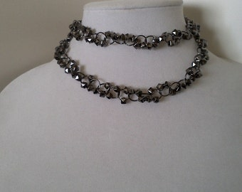 Unique Necklace with Geometric Shaped Beads