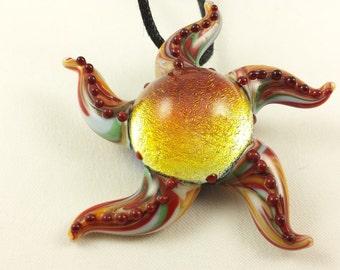 Starfish - Glass Pendant Necklace