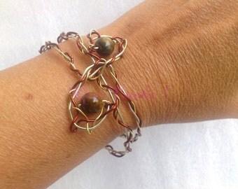 Tiger Eye Bracelet copper wire
