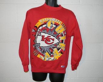 Vintage 90s Kansas City Chiefs Crewneck Sweatshirt Sz M