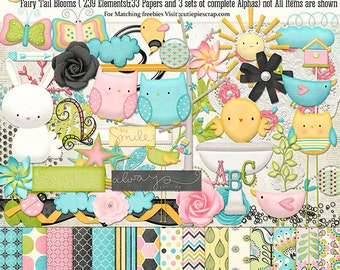 Fairy tail blooms -Digital Scrapbook Kit for Digital Scrapbooking and Paper Crafting