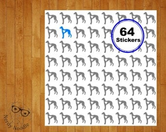 Greyhound Stickers, 64, Greyhound Sticker Set, Greyhound Envelope Seals, Greyhound Envelope Stickers, Greyhound, planner stickers, scrapbook