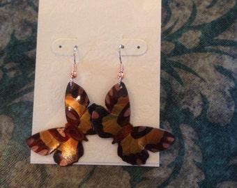 Single butterfly ear rings