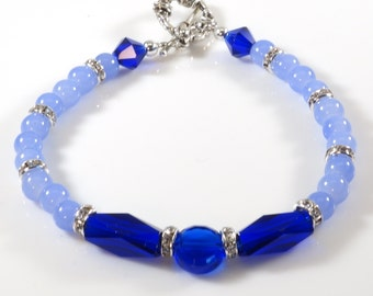 Women's Blue Beaded Bracelet