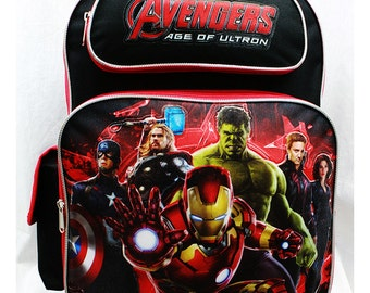 Marvel Avengers (16 Inches or 14 Inches) Backpack or Lunch Bags