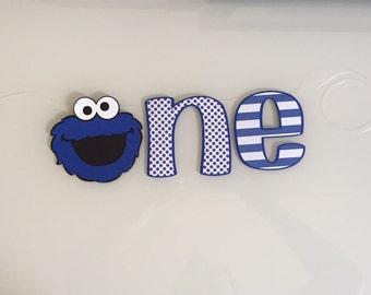 Cookie Monster First Birthday Cake Smash