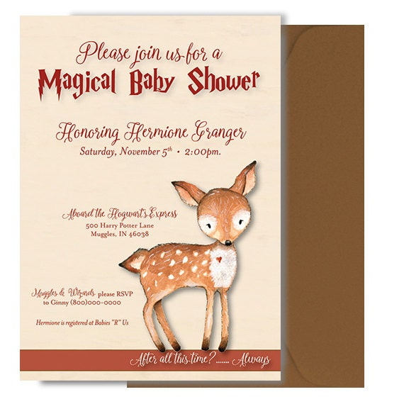 07e8412b7 ... Harry Potter Quotes For Baby Shower: Harry Potter Baby Shower  Invitation Harry Potter Shower