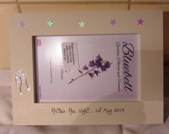 Hen Night Personalised photo frame for 6 x 4 photographs