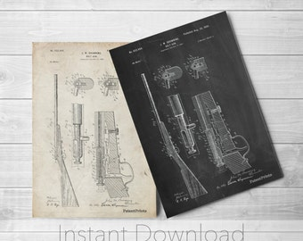 Browning Bolt Action Gun Printables, Rifle, Antique Gun, Gun Enthusiast, Gun Print,  PP0093