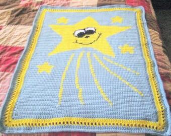 Smiling Star Baby Blanket