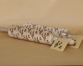 Engraved Rolling Pin, Personalized Rolling Pin, French Rolling Pin with Notes