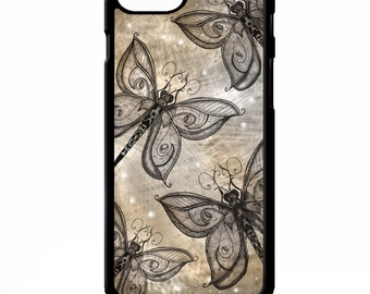 Dragonfly butterfly pretty girly vintage print pattern cover for Samsung Galaxy S5 S6 s7 edge plus note 4 5 Sony xperia Z2 Z3 phone case
