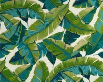 Balmoral Opal Indoor / Outdoor Fabric By Richloom - Tropical Leaf Outdoor Fabric - Fabric by the yard