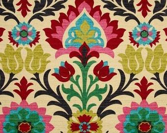 Southwestern Fabric, Mexican Fabric, Tela Mexicana, Cinco de Mayo Fabric, Santa Maria Desert Flower Drapery Fabric - By the yard