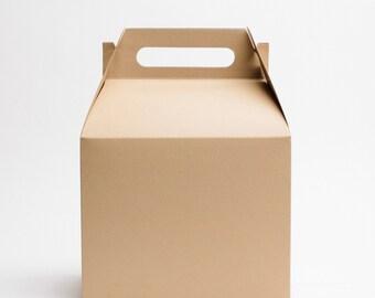 Large Kraft Gable Boxes (set of 10)