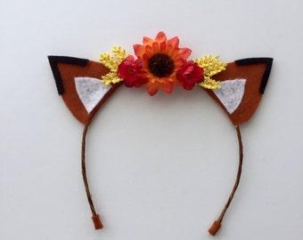 Fox Ears...Woodland Ears...Fox Headband