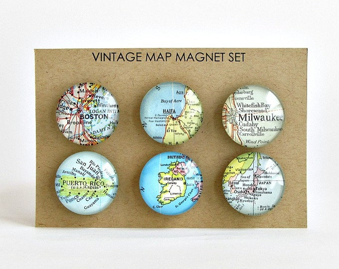 Featured listing image: Custom Map Magnets / Anniversary Gift for Parents / thank you gifts for coworkers / Gift for Boss / Moving Away Gift / Going Away Gift