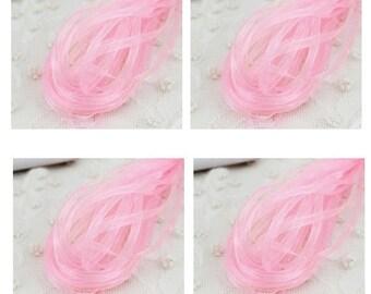 20 yd Pink Organza Ribbon-3mm