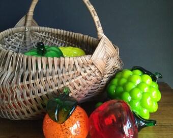 Vintage Glass Fruit