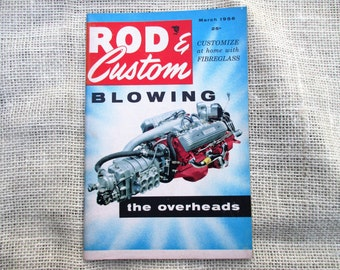"""March 1956 Rod & Custom """"Little Pages"""" Magazine"""