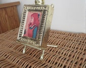 Avon Bottle  picture frame and stand cologne  Brocade