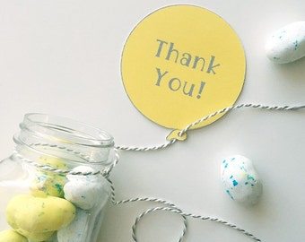 Thank You Balloon Tags-set of 8