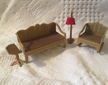 Awesome Tootsie toy living room doll house furniture
