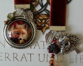 Velvet Bookmark  Little Fox