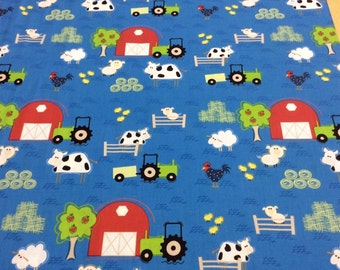 Patchwork Quilting Fabric Clothworks Farm Friends Y0870-30