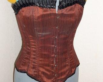 Red/black stripe corset