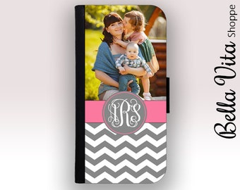 iPhone 6 Wallet Case, iPhone Wallet Case, iPhone Wallet Leather, iPhone 6S Wallet Case, Photo Gift Mom, Monogrammed iPhone Case I6W I6S