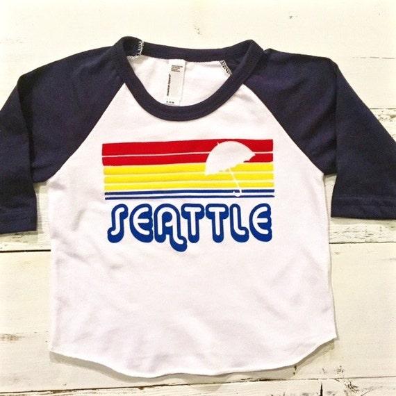 Seattle baby toddler baseball t cool toddler shirt hip for Custom dress shirts seattle