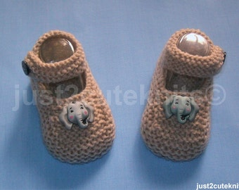 Hand Knitted Baby Boy Booties