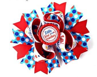 Patriotic Bow, Patriotic Hair Bow, Patriotic Hairbow, Patriotic Baby, Patriotic Headband, Memorial Day Bow, Memorial Day Hairbow