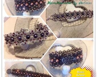Micro Macrame Tutorial DIY Glitter Bracelet Beaded Macrame ( 2 versions !!)