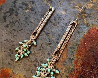 Arrow Earrings Turquoise Arrow Earrings Western Earrings Country Earrings Arrows Follow Arrow Earrings Arrow Jewelry Turquoise Arrows Dangle