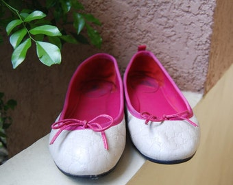 Sale Gucci Monogram  Ballet Flats Shoes Size 37 Made on Italy