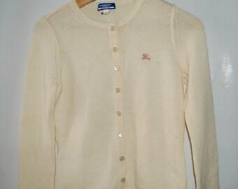 Sale Nwot! Burberry Blue Label Wool Cardigan Sweater Jacket Size 38