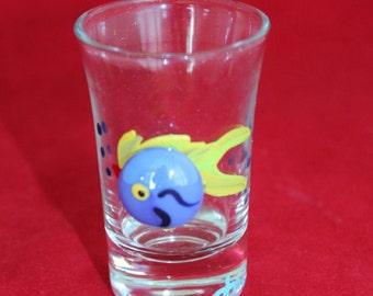 Hand Painted Fish Jigger Shot Glass